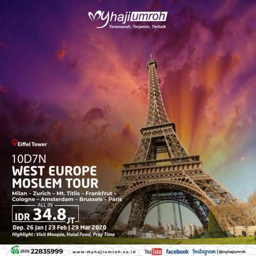 WEST EUROPE MOSLEM TOUR